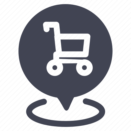location, map, marker, navigation, pointer, shopping icon