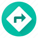 arrow, directions, material design, navigation icon