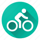 action, bike, directions, human, material design icon
