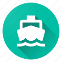 boat, directions, material design icon