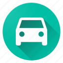 car, directions, material design icon