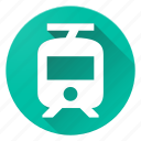 directions, material design, tram icon