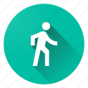 directions, human, material design, walk icon
