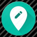 edit, location, material design, pin icon