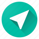 arrow, direction, location, material design, me, navigation, near icon
