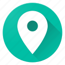material design, pin, place icon