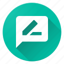edit, material design, rate, review icon