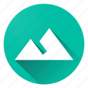 material design, montain, terrain icon