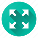 expend, material design, zoom icon