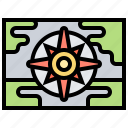 compass, destination, discovery, expedition, map icon
