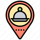 delivery, food, location, restaurant, service icon