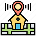 address, home, location, map, position icon