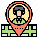 map, marker, pin, position, tracking icon