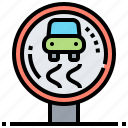 road, safety, sign, traffic, warning icon