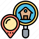 home, location, navigation, route, searching icon
