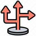 arrow, direction, guide, sign, turn icon