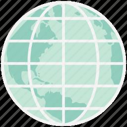 earth globe, earth grid, global network, globe, planet, world map, worldwide icon