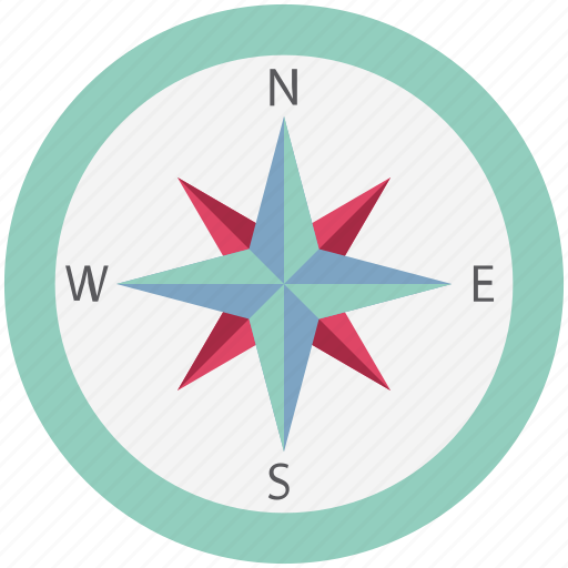 cardinal points, compass, compass rose, directional tool, gps, navigational icon