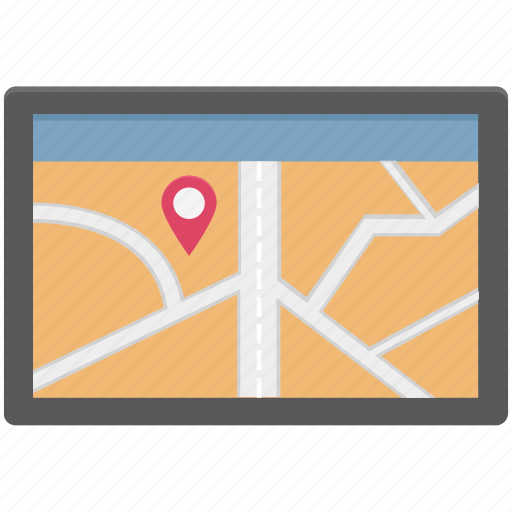 Gps, map, map device, mobile map, navigation, navigational device, online map icon - Download on Iconfinder