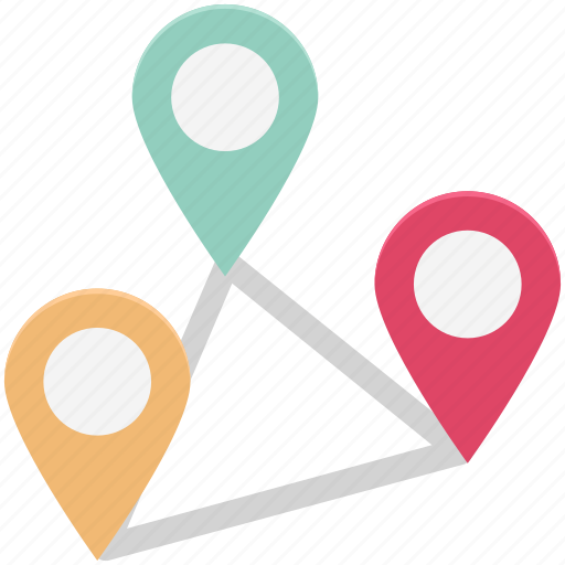 distance, gps, location, map, marker pin, navigation icon