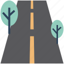 environment, highway, road, shrub tree, track, tree icon