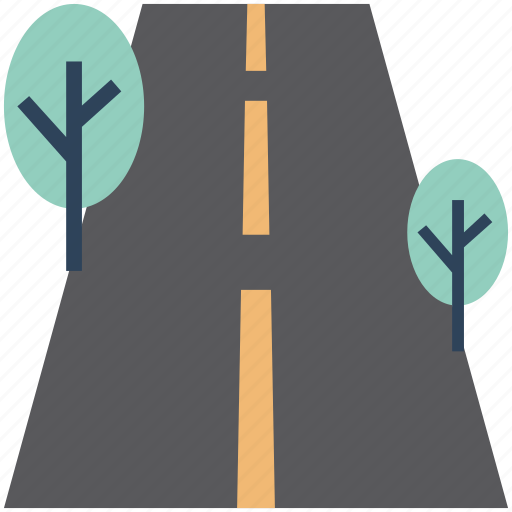 Environment, highway, road, shrub tree, track, tree icon - Download on Iconfinder