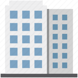 blocks building, building, commercial building, flats, real estate, residential flats icon