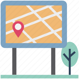 board, location board, map board, map pin, navigation pin, park, pin icon