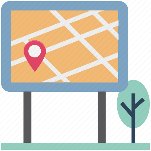 Board, location board, map board, map pin, navigation pin, park, pin icon - Download on Iconfinder