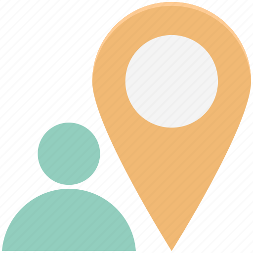 location pin, map pin, navigation, person, person location icon
