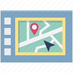 gps, map, map device, mobile map, navigation, navigational device, online map icon