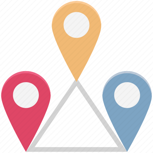 Distance, gps, location, map, marker pin, navigation icon - Download on Iconfinder