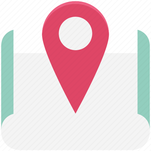 Direction, map, map pin, navigation, path, pin, route icon - Download on Iconfinder
