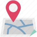 direction, map, map pin, navigation, path, pin, route