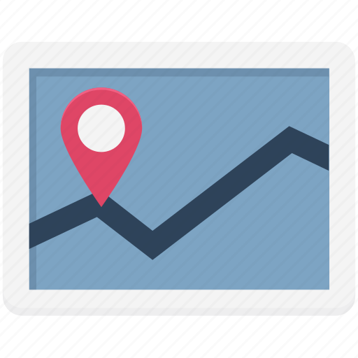 gps, location, map, map device, navigation, online map icon