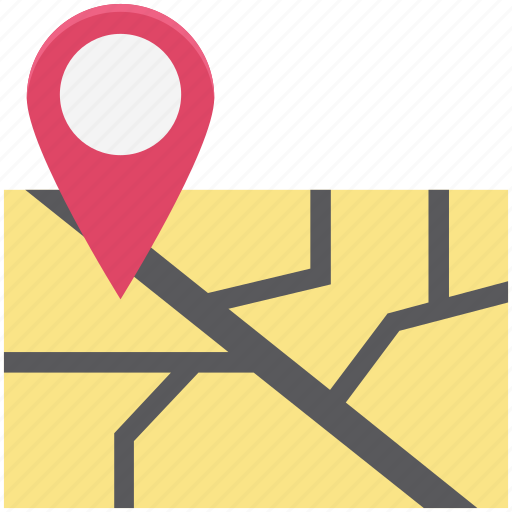 direction, map, map pin, navigation, path, pin, route icon