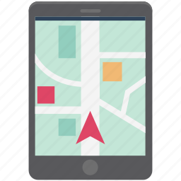 gps, location, location tracing, map, map device, navigation, online map icon