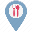 bar, cafe, coffee, food location, location, restaurant, restaurant location icon