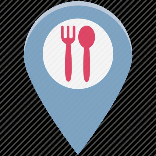 bar, cafe, coffee, food location, location, restaurant, restaurant location icon