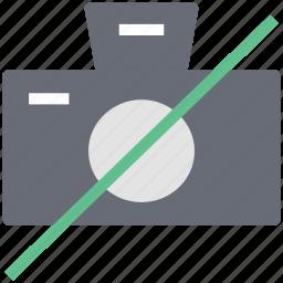 no camera, prohibited camera, restrict camera, restrict photography icon