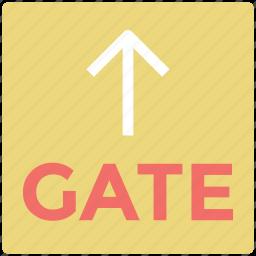 arrow, arrow key, gate location, straight, up arrow, upward icon