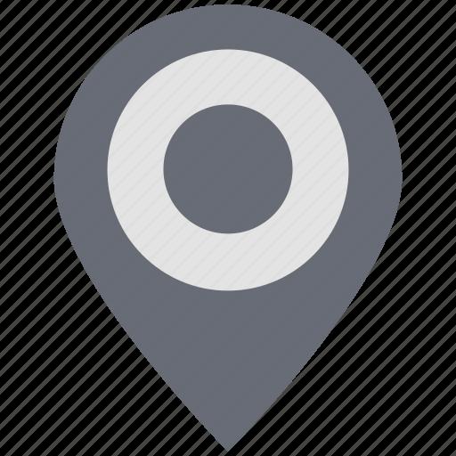 circle map pin, gps, location, locator, map, navigation, pin icon