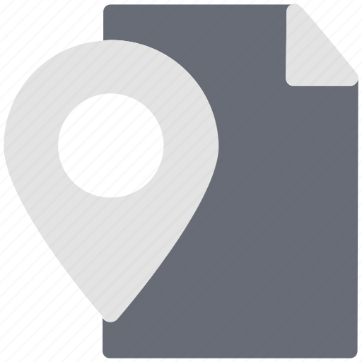 location mark, map and locator, map location, navigations, unfolded map icon