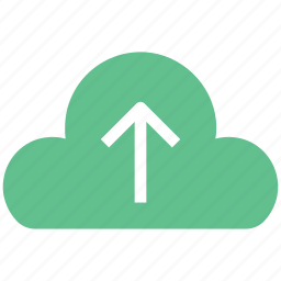cloud, cloud arrow, cloud computing, icloud, up, upload, uploading icon