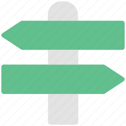directional arrows, directions, guideposts, pointers, signposts icon