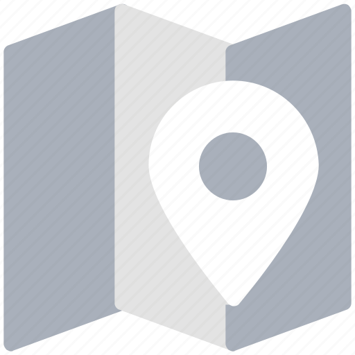 chart, location marker, location pin, map, map pin, unfolded map icon