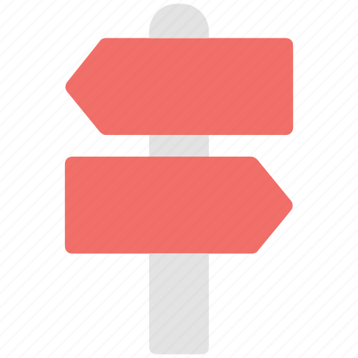 direction post, directional arrows, directions, guideposts, pointers, signposts icon