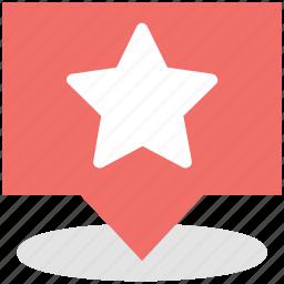 chosen, favorite, favourite place, popular, star sign icon