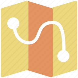 direction, flight path, route, track, trajectory icon