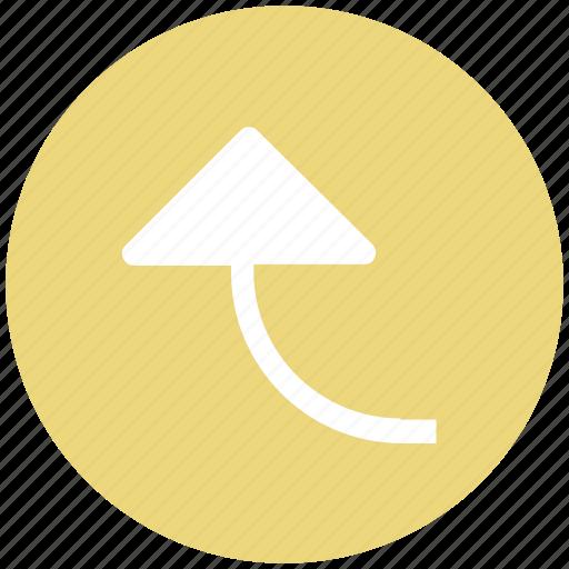 arrow, direction arrow, direction guid, up arrow, upload icon